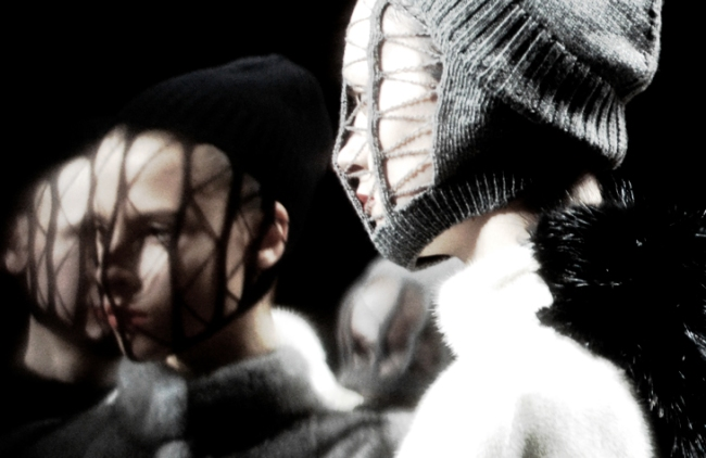 Masks by Rick Owens via Blogs & Addicts